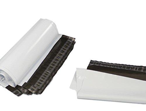 (20Stück) weiß 350x 450mm, Versandtaschen Poly Post Kunststoff Versandtaschen Versand Staubbeutel Mail Verpackung Paket selbst Seal Umschlag - Poly Selbst Seal Versandtaschen