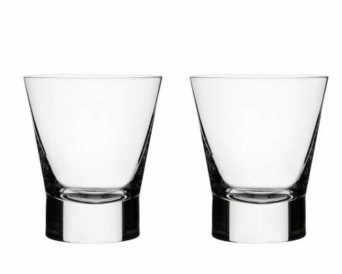 Iittala Aarne Whiskyglas, 2er Set, Whiskeyglas, Trumbler, Whisky, Whiskey, Glas, Klar, 320 ml, 1008505