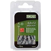 Salki 0394812 Remache Flor de Aluminio y Acero para Matrículas