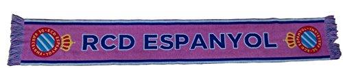 RCD Espanyol Bufesp Bufanda Telar, Blanco / Azul, 140 x 20 cm