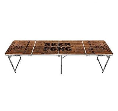 Table Beer Pong Officielle Premium Haute Qualité Version Old School - Dimensions Officielles Compétition - Résiste aux Rayures et Éclaboussures - Jeu de Soirée - Jeu à Boire