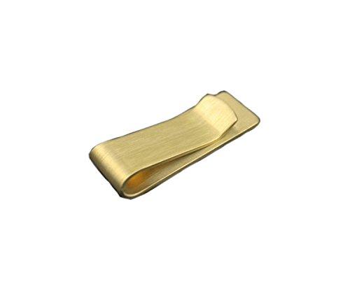 Einfache und Reinigung von Metallgeldklammer für Männer Gold Kupfer Geldklammer für Frauen Messing Geld Clamp Wallet Bill Falten Note (Kupfer Bildet)