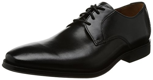 Clarks Gilman Lace, Scarpe Stringate Derby Uomo, Nero (Black Leather-), 42.5 EU