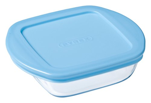 pyrex-baby-storage-recipiente-cuadrado-14-x-12-cm-35-cl-transparente-tapa-color-azul