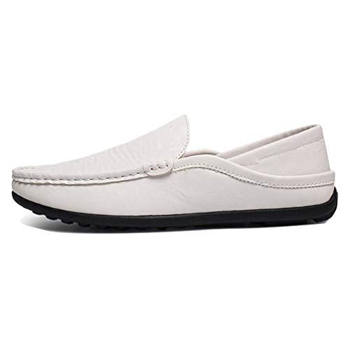Chaussure de Conduite en Cuir a Enfiler pour Homme Souple Basse Plate Chaussure de Ville au Loisir Résistant à l'usure
