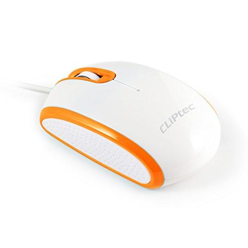CLiPtec® Viva Pro verkabelt 3Taste 1000DPI Optische Maus-schwarz orange Speed RSZ966 -