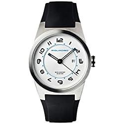 Orologio Piquadro Wwwatch bianco donna in acciaio satinato con datario, diametro 34 mm, impermeabile fino a 5 ATM OR1006WW/BI