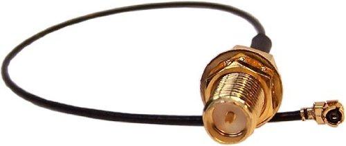 BIGtec WLAN Adapterkabel RP SMA Buchse - Pigtail U.FL Stecker, 20cm, für AVM Fritzbox, Speedport, Notebook, UFL Adapter, SMA Adapter, extra langes Gewinde 13mm