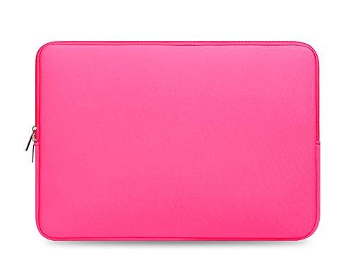 E-Bestar Reißverschluss Computer Tasche Notebook Schutztasche Notebook Hüllen Taschen 13-17 Zoll Tasche für ipad Laptop (15 inch, Rose rot)