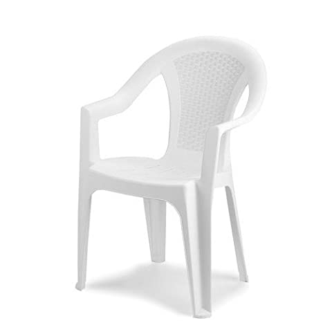 Rotin en résine Papillon–Chaise dossier bas Ischia, blanc