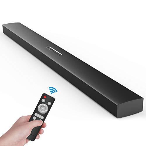 (KY2000 Generation 2) Meidong Soundbar, Sound Bars for TV Bluetooth Sound Bar 72 Watt 43 Inches HiFi Stereo Wall Mountable Soundbars for TV AUX/OPT/RCA/JACK