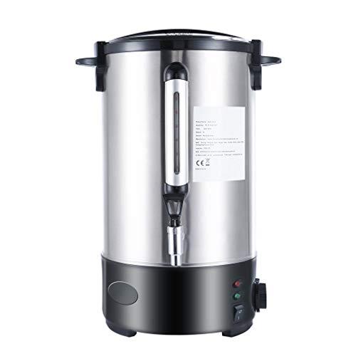 SWEEPID Doppelschicht Glühweinkessel Glühweinkocher Edelstahl Thermostat Wasserkocher Glühweinkocher Glühweinautomat Heißgetränkeautomat Einkochautomat Heißwasserspender (10L(Doppelschicht))