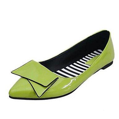 Confortevole ed elegante piatto scarpe donna Appartamenti Primavera / Estate / Autunno / Inverno Comfort / Appartamenti similpelle Office & Carriera / Casual tacco piatto Bowknot Green