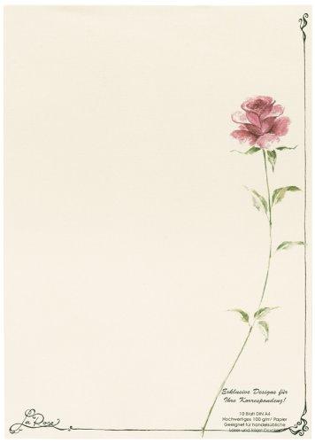 "Rössler 1103800805 Designblätter A4 (297 x 210mm) Motiv: \""La Rose\"""