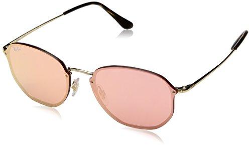 Ray-Ban RAYBAN Unisex-Erwachsene Sonnenbrille 3579n, Gold/Pinkmirrorpink, 58