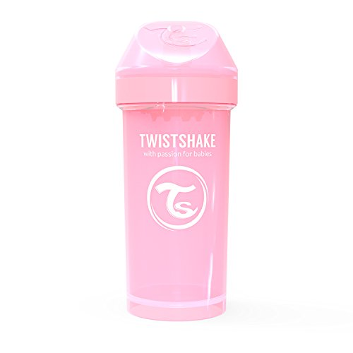 Vital Innovations 78279 Trinkbecher Twistshake Kid Cup, 360 ml, rosa
