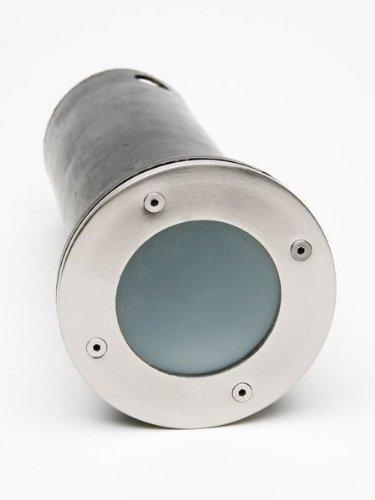 Spot acier inoxydable aluminium verre IP54 lampe sol extérieur luminaire éclairage jardin terrasse