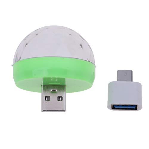 IPOTCH USB/Typ C Discokugel Partylicht,RGB LED Disco Licht DJ Party licht Bühnenbeleuchtung - Grün