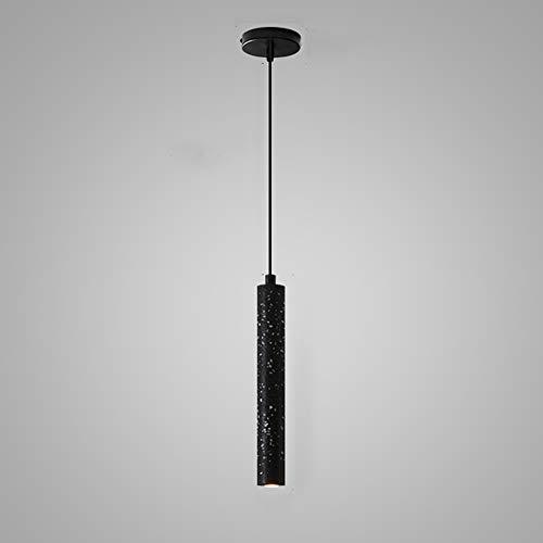 Retro Industrie Kronleuchter LED, 3W Kreative Zement Kronleuchter Schlafzimmer Wohnzimmer Wohnzimmer Dekoration Lampe (Color : Schwarz)
