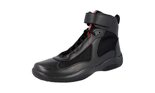 Prada America's Cup Herren Sneaker, Schwarz (Nero), Schwarz (schwarz), 38.5 EU