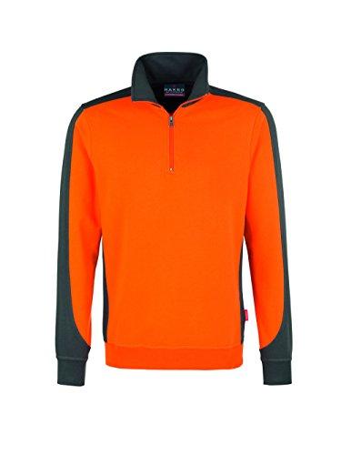 HAKRO Zip Sweatshirt Contrast Performance Orange