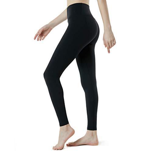TianWlio Leggings Damen Frauen Running Stretch Hosen Hosen Hohe Taille Yoga Fitness Leggings Yoga Leggings Sport Leggings Yoga (Schwarz 4480, XS) -