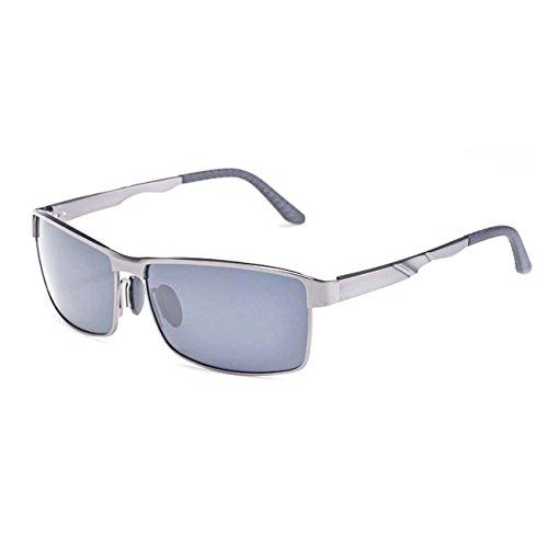 Ultra ® Adults Silver & Grey Sonnenbrille aus Aluminium und Stahl-Verbundmetall TAC Polorised Classic Shape Shades UV400-Gläser Für das Fahren Angeln Golf Travel Walking Stilvolle Rahmen für Männer Frauen