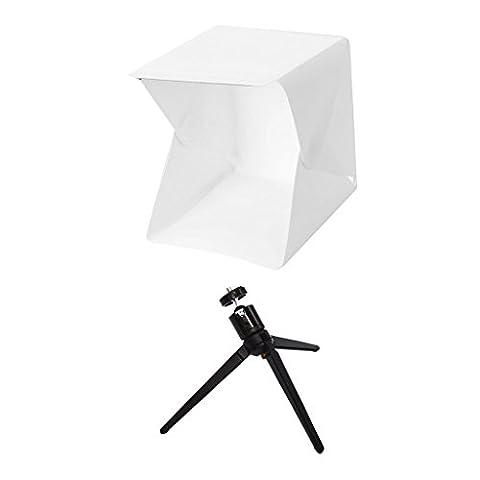 Gazechimp Tragbar klappbar Mini-Foto-Studio Fotografie Beleuchtung Licht Kulissen Set für Smartphones, (Digital Studio Beleuchtung)