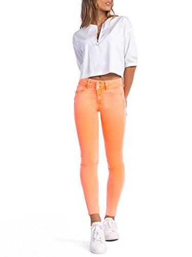 dcde777cb48 JEAN TIFFOSI MUJER ONE SIZE COLORS DOUBLE UP 17 (NARANJA FLUOR)