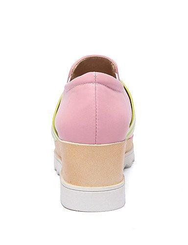ZQ gyht Scarpe Donna-Mocassini-Casual-Creepers / Punta squadrata-Plateau-Vernice-Blu / Rosa / Bianco , pink-us10.5 / eu42 / uk8.5 / cn43 , pink-us10.5 / eu42 / uk8.5 / cn43 white-us5 / eu35 / uk3 / cn34