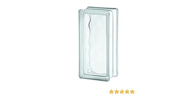10er Pack Glasbaustein Wolke wei/ß 19x19 cm