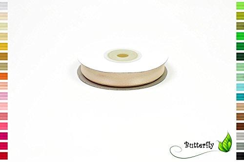 25m Rolle Satinband 12mm ( champagner 815 ) // Deko Band Satin Geschenkband Schleifenband Dekoband Dekoration Hochzeit Taufe