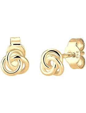Elli Premium Damen Ohrringe Trend Knoten 585 Gelbgold 0308971516