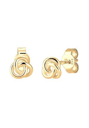 Elli Premium Damen-Ohrstecker Knoten 585 Gelbgold - 0308971516