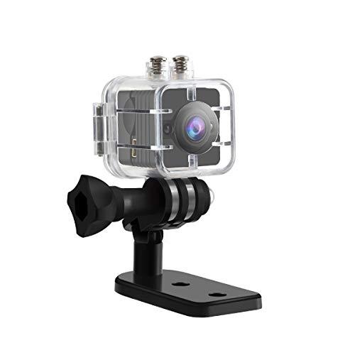 nkprofi 1080P Full HD 30 m Wasserdichte Klein Sport DV 12 Megapixel IR Nachtsicht Camcorder 155° Weitwinkel Bewegungsmelder ()