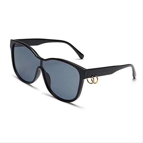 ZHAS Sonnenbrille Übergroße quadratische Sonnenbrille Frauen Vintage-Dekoration Sonnenbrille für Damen Klare Linse Sonnenbrillen sind aus hochwertigen Materialien für Haltbarkeit hergestellt