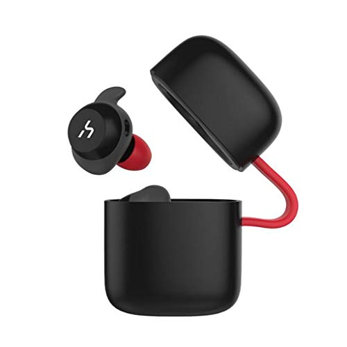 WLPT wasserdichte Ohrhörer, G1/G1Pro/G1W Bluetooth 5.0 TWS Kopfhörer IPX5 wasserdicht mit Ladetasche In-Ear Unsichtbare Ohrhörer 3D Stereo HiFi Sound,BlackRed,G1Pro G1 Stereo
