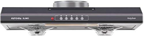Kutchina Slimo 750 M/Hr 3Rd Generation Auto Clean 60 Cm Straight Line Kitchen Hood Chimney (Grey)