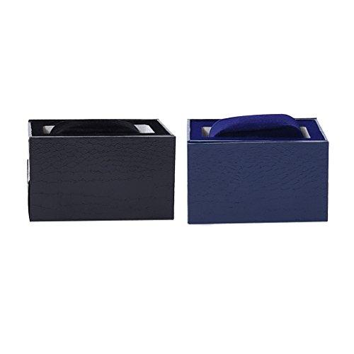 Baoblaze Einzel Slot Armbanduhr Fall Box Organizer Aufbewahrungsbehälter mit Abnehmbare Kissen-2 Stücke (Leder-foto-speicher-box)