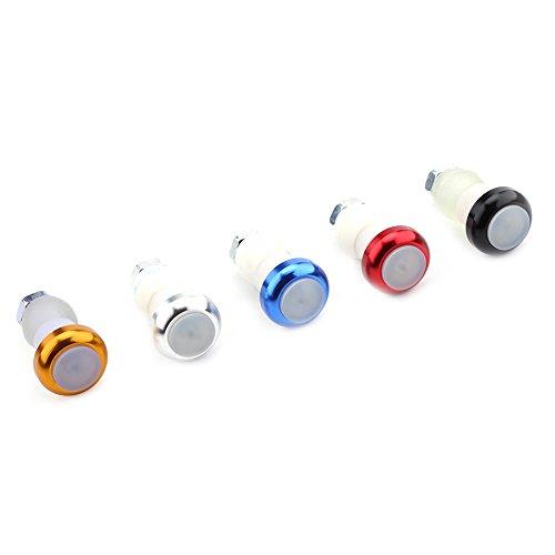 VGEBY 2Pcs Indicatore di Direzione Grips in Lega di Alluminio per Bicicletta Manopola Lampada di Segnale di Avvertimento di Sicurezza ( Colore : Giallo ) Nero