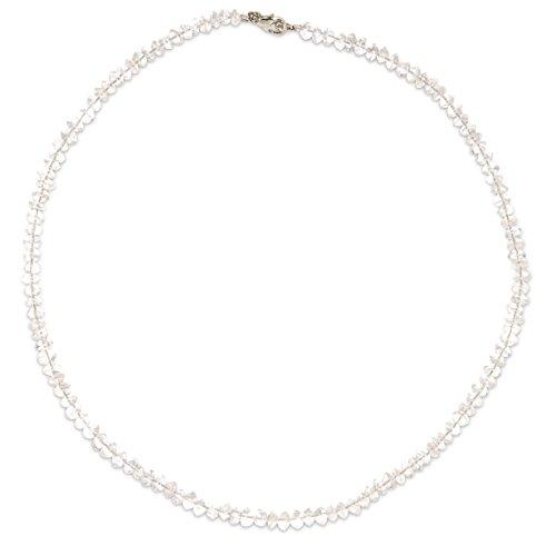 Bergkristall Schmuck (Halskette) Bergkristall Kette Verschluss 925er Sterling-Silber Modellnummer 3016