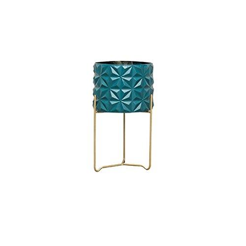 HJ Étagère Verticale Simple et innovatrice Simple-Couche Balcon Salon Suspendus Cadre d'orchidée Pot planteur présentoir Garden (Couleur : Bleu, Taille : 29 * 50CM)
