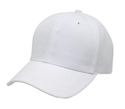 casquette-de-base-ball-couleur-pur-chapeau-classique-gouttiere-incurve-blanc