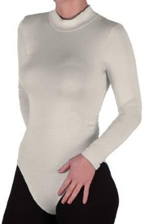 Fashion essentials_women's-Maglia con collo a Polo, Body, Tuta con elastico Cream