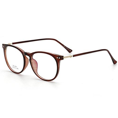 QHGstore Uomini Donne TR90 vetri ottici Occhiali Full Frame Occhiali Eyewear vintage NO.3