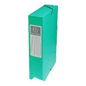 Exacompta - Réf. 50603E - Boite de classement à élastiques Exabox - Dos 60mm - Format 25x33cm pour documents A4 - Carte lustrée 600g/m² - Vert