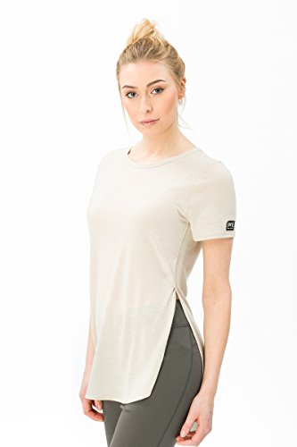 ShirtMit Damen Super natural Japan Comfort TeeGrößeMFarbeBeige T Weites MerinowolleW kTPOiXZu