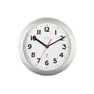 CLOCK MSF RC 23CM SILVER 74317 By ACCTIM