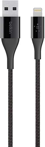 Belkin MIXIT Duratek Unbreakable Kevlar Lightning to USB 2.0 A Charge & Sync Cable for iPhone, iPads & iPods, 4 Feet (Black)