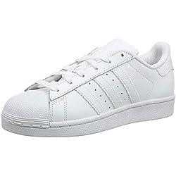 Adidas Superstar Foundation, Zapatillas Unisex Infantil, Blanco (FTWR White/FTWR White/FTWR White), 37 1/3 EU